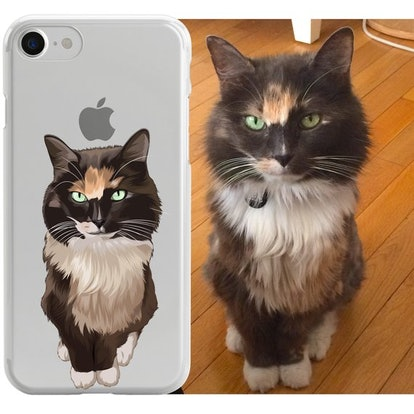 Custom illustrated Cat iPhone Case by North Legends