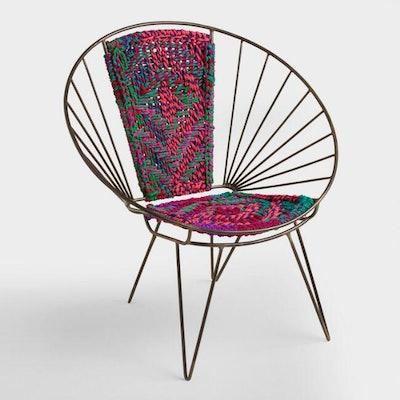 Metal Woven Chindi Chair
