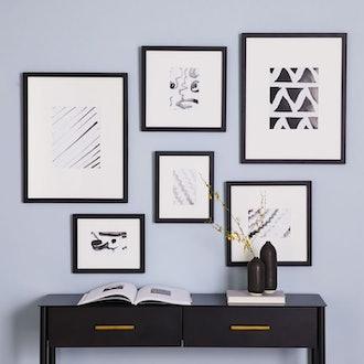 Black Gallery Frames (set of 6)