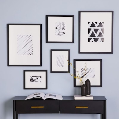 Black Gallery Frames (set of 6)