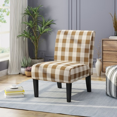 Kassi Traditional Upholstered Farmhouse Accent Chair