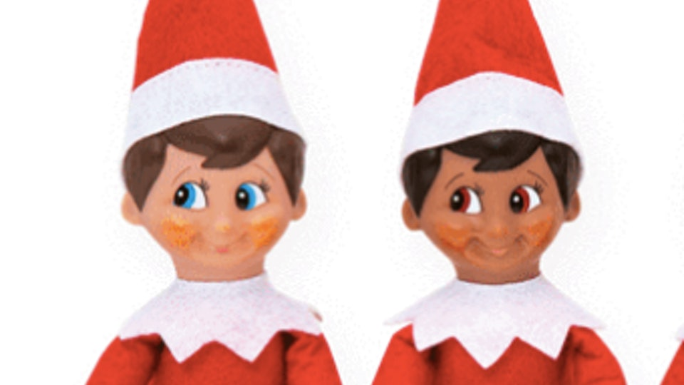 two elves on the shelf