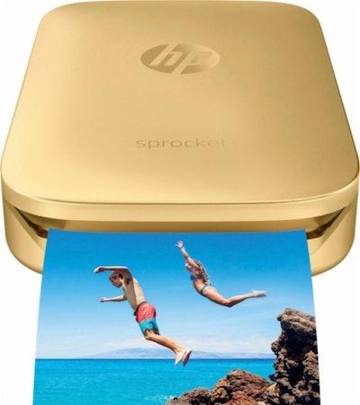HP Sprocket Photo Printer in Gold