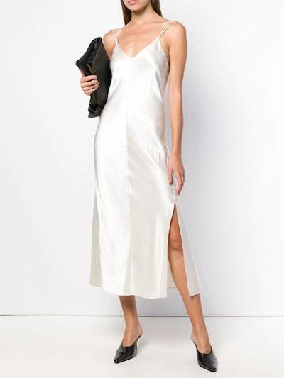 Side Slit Slip Dress