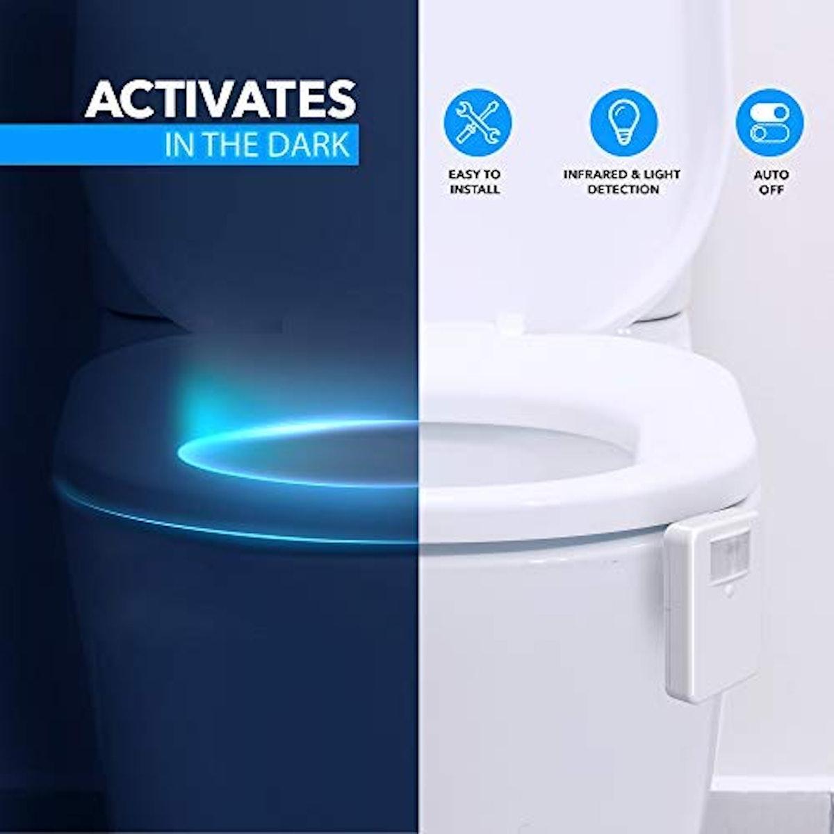LumiLux Motion Sensor LED Toilet Light
