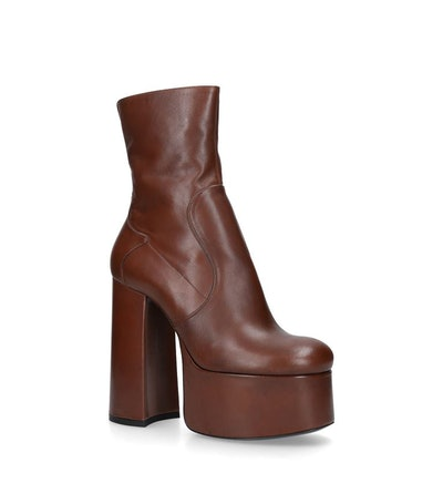 Leather Billy Platform Boots 90