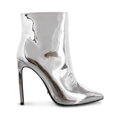 Freddie Silver Metallic Ankle Boots