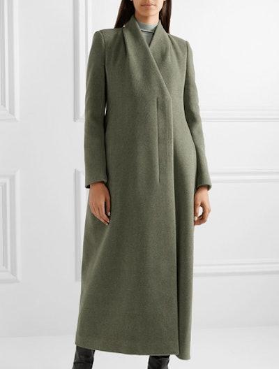 Nalty wool-blend twill coat