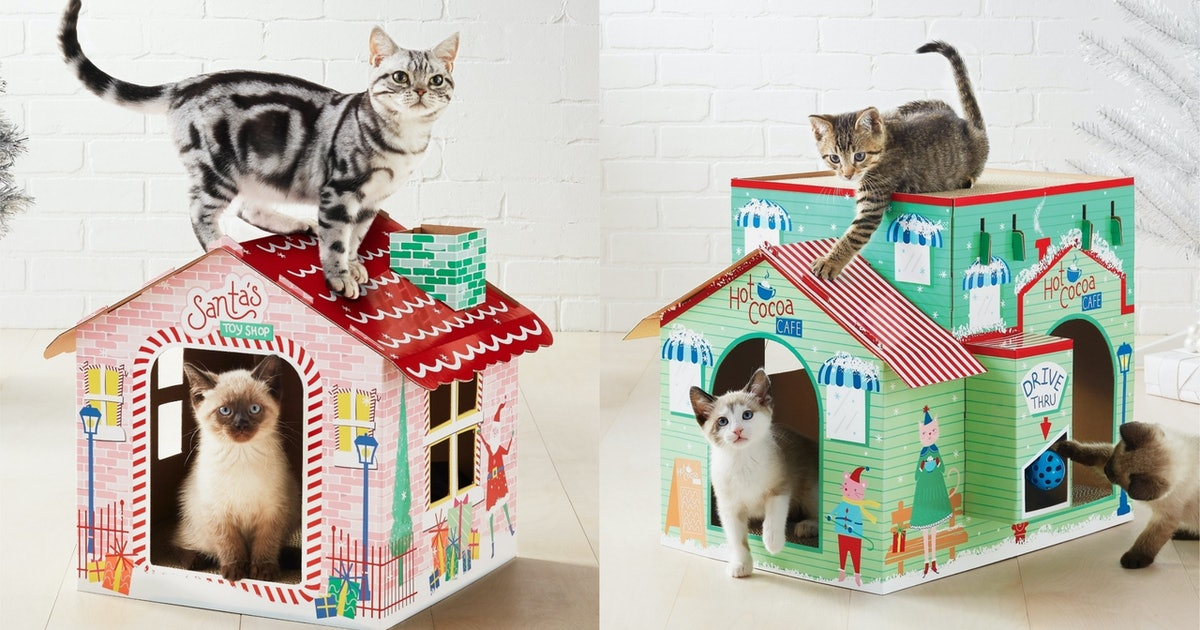 Target Is Selling Holiday Cat Scratchers That Look Like They're From The North Pole