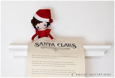 Elf Delivered Letter