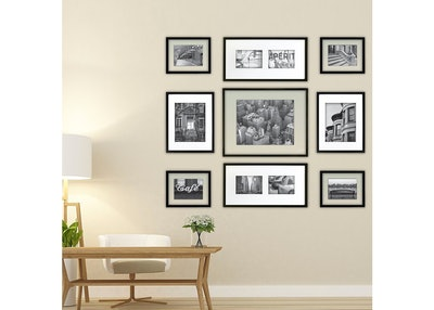 Gallery Perfect 9 Piece Multi-Size Wall Frame Set