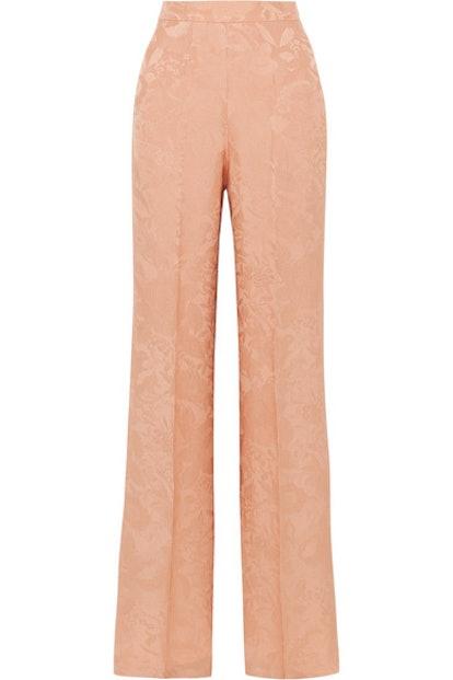 Etro Silk-Jacquard Wide-Leg Pants