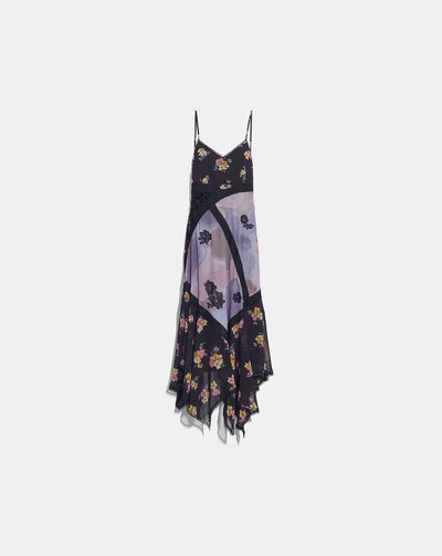 Mixed Print Slip Dress