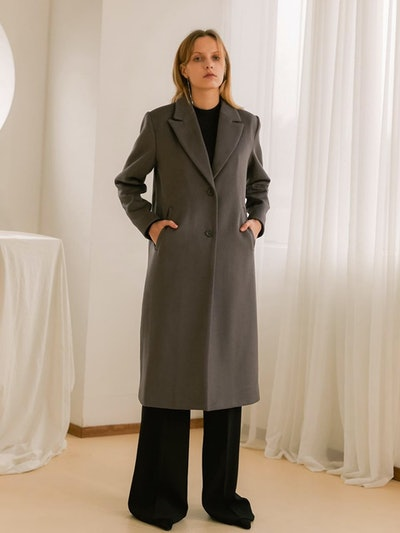 Single-Button Coat