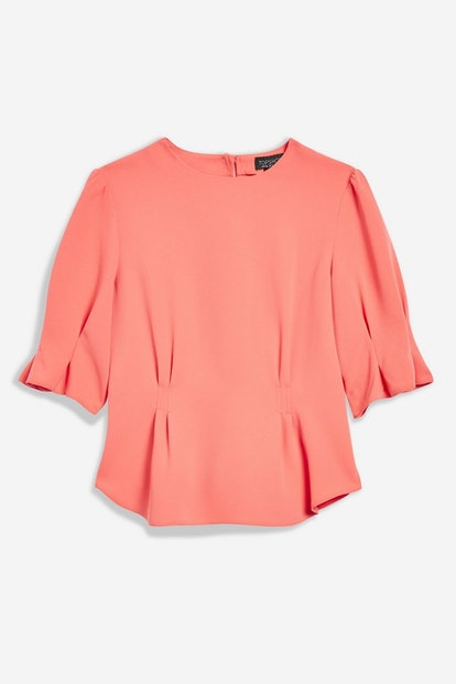 Puff Sleeve Tuck Top