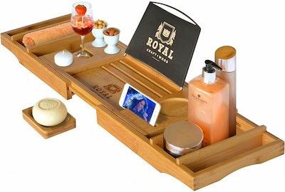 Royal Craft Wood Bathtub Caddy Tray