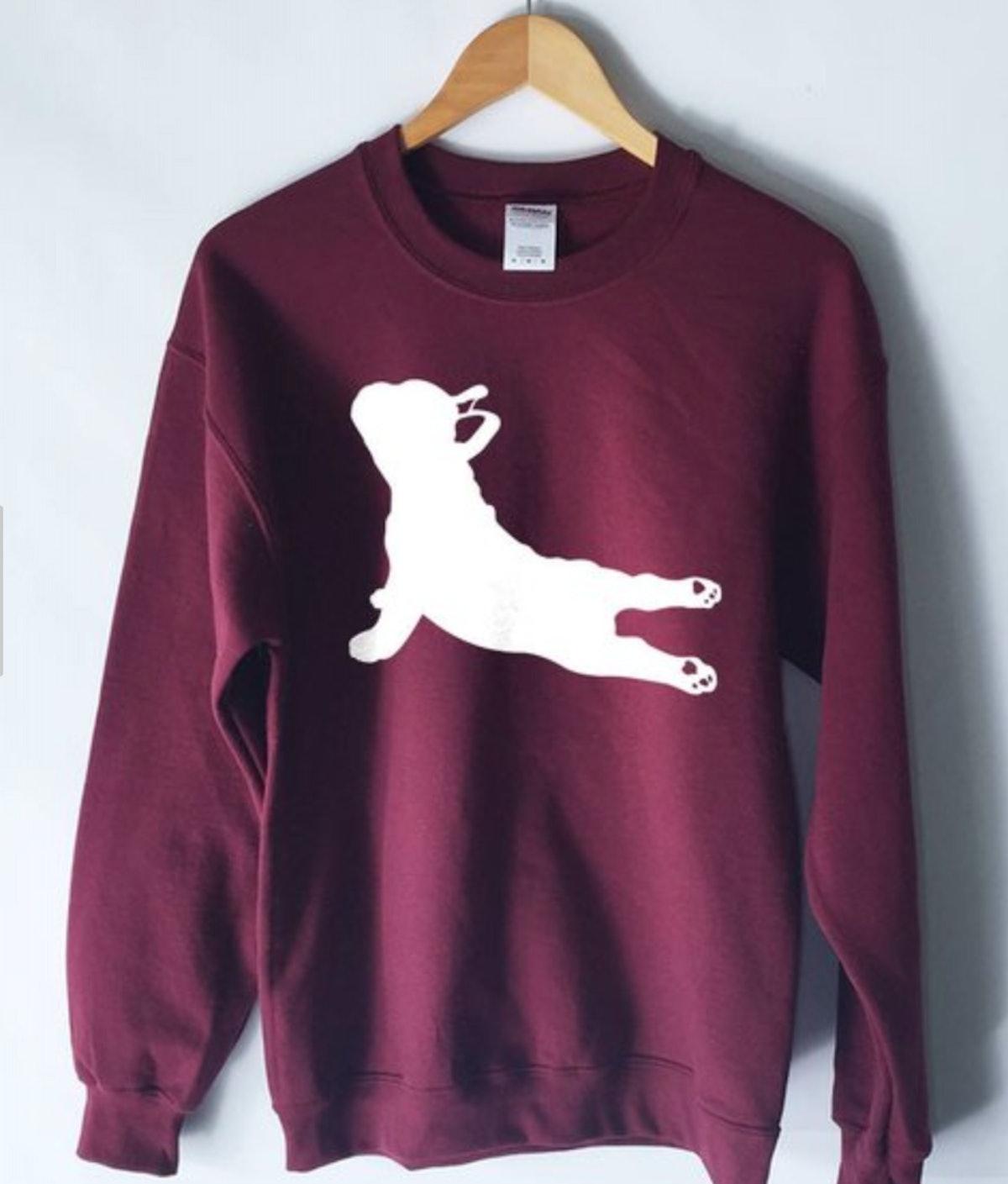 French Bulldog Yoga Pose Sweatshirt