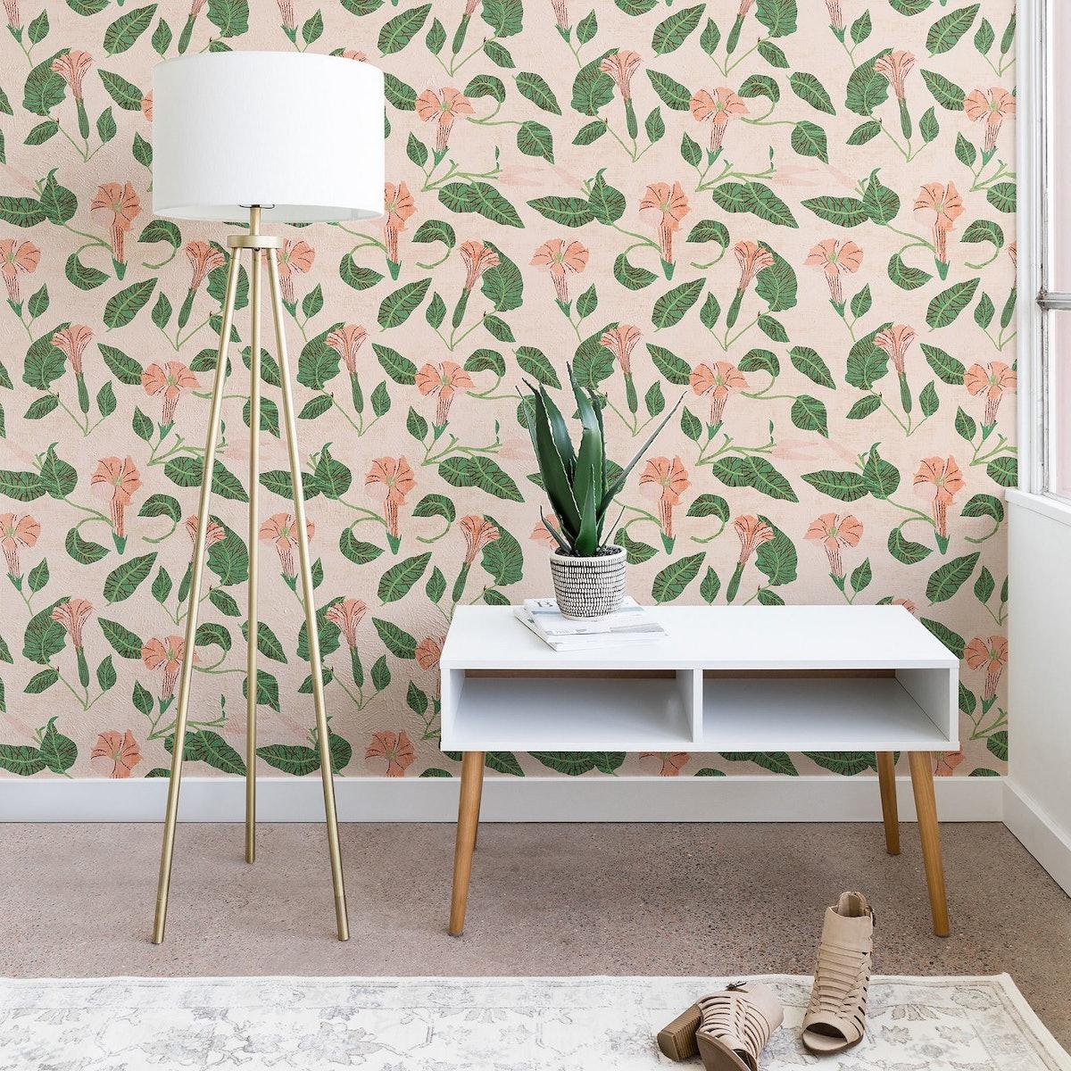 Holli Zollinger Desert Moonflower Wallpaper Pink - Deny Designs (2 feet x 4 feet)