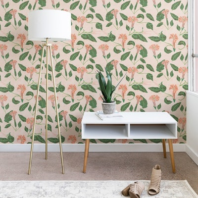 Holli Zollinger Desert Moonflower Wallpaper Pink - Deny Designs (2 feet x 4 feet)