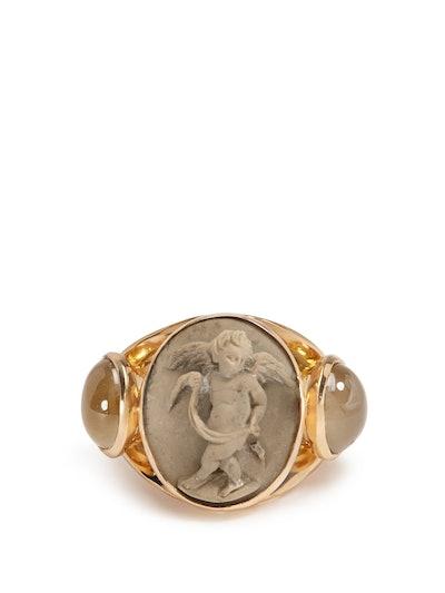Brigid Blanco Quartz & 18kt Gold Ring