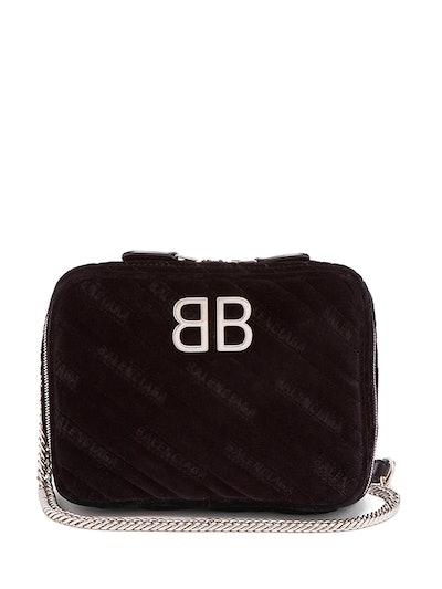 BB Reporter XS Quilted-Velvet Bag