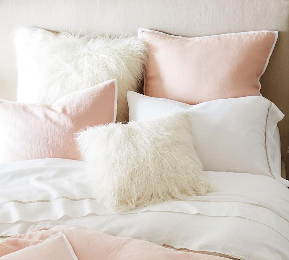 Faux Fur Mongolian Pillow Cover