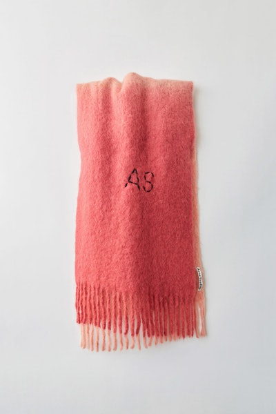 Two-Tone Scarf Pink/Fluo Pink