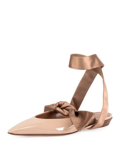 Kirk Ankle-Tie Ballet Flats
