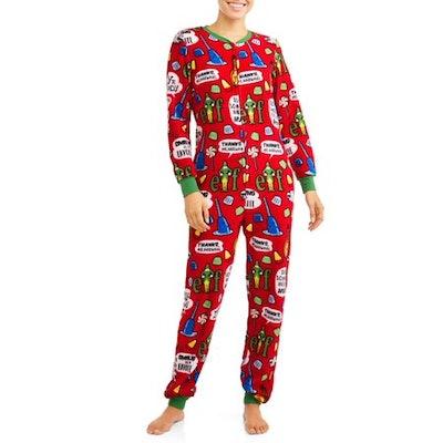 Elf Women's and Women's Plus Dropseat Union Suit