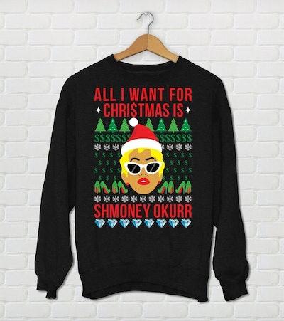 Unisex Cardi B Christmas Sweater