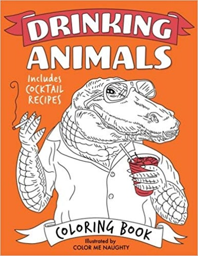 Color Me Naughty Drinking Animals Coloring Book