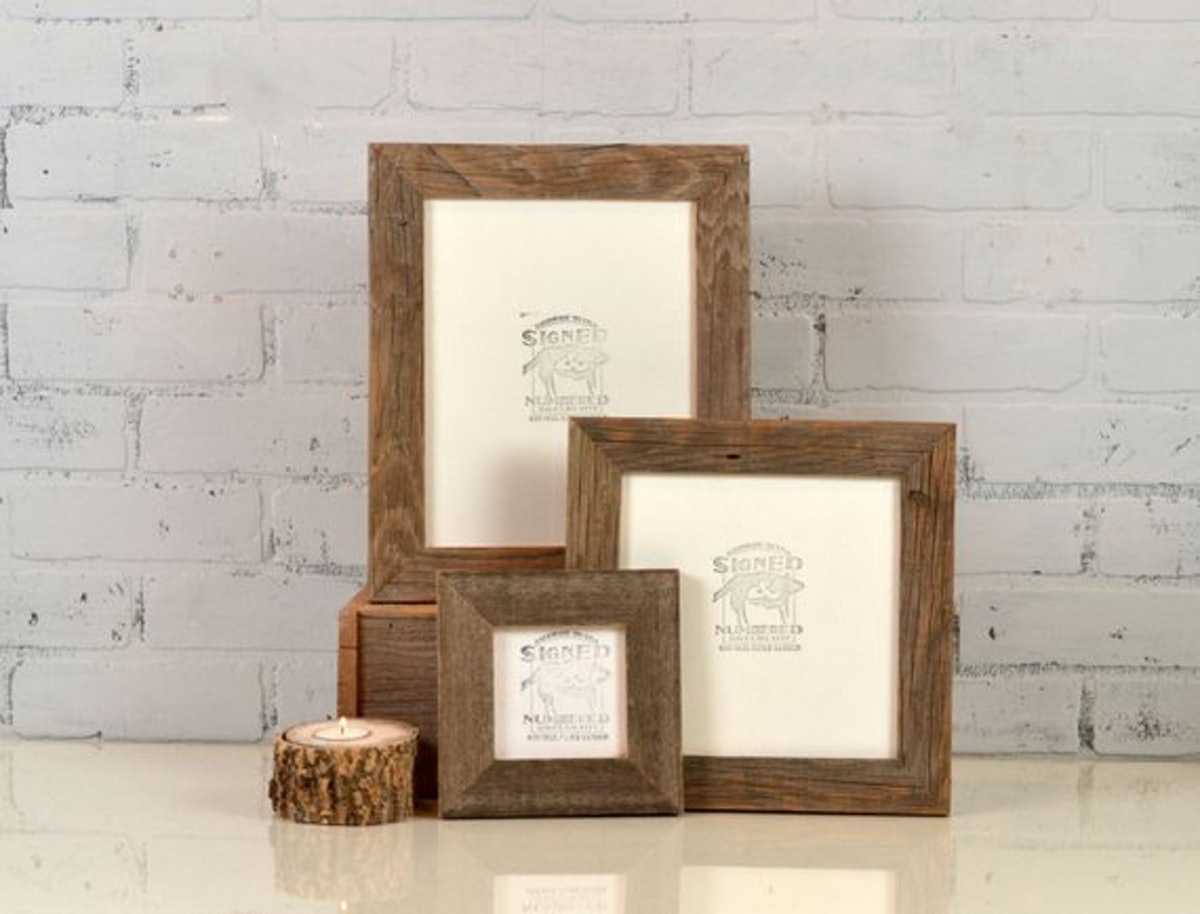signedandnumbered Reclaimed Cedar Wood Picture Frame