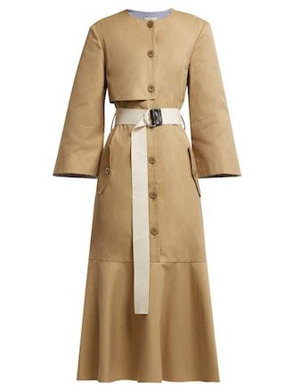 Finn Cotton-Twill Trench Dress