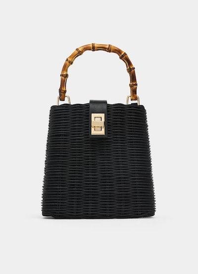 Woven Crossbody Box Bag