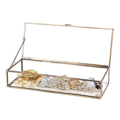 MyGift Vintage Jewelry Display Caseq