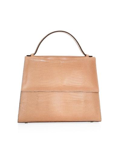 Lizard Leather Top Handle Bag