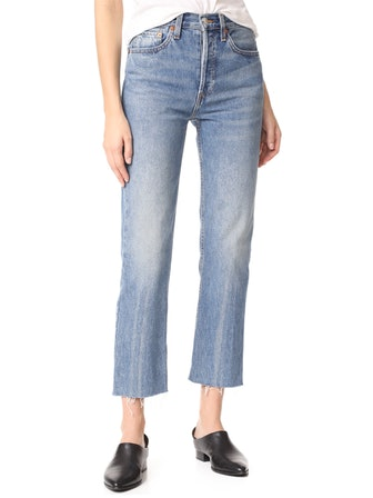 High-Rise Rigid Stove Pipe Jeans