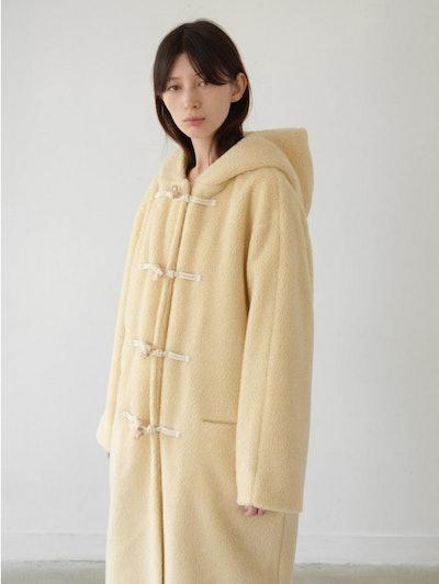 AMOMENTO Furry Toggle Coat
