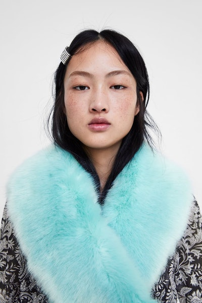 Coloured Faux Fur Scarf