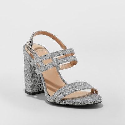 Women's Estella Strappy Stiletto Heeled Sandal Pumps - A New Day™