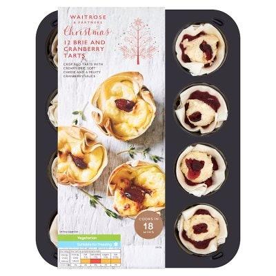 Waitrose Brie & Cranberry Filo Tarts