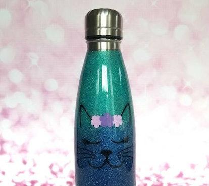 Glitter Cat Tumbler