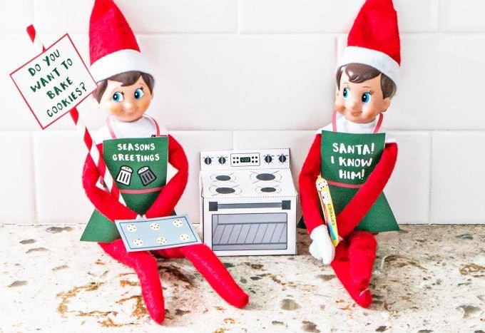 image relating to Elf on the Shelf Printable Props identified as 13 Elf Upon The Shelf Printable Props, Thatll Create Styling