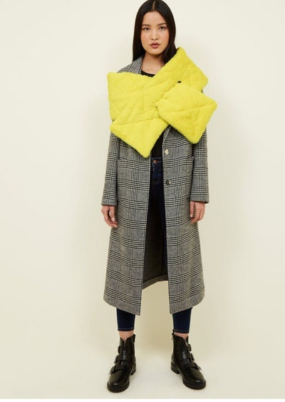 Yellow Neon Padded Scarf