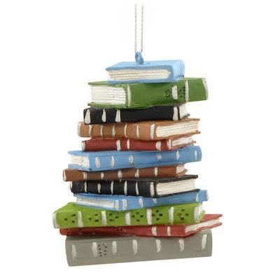 Book Pile Ornament