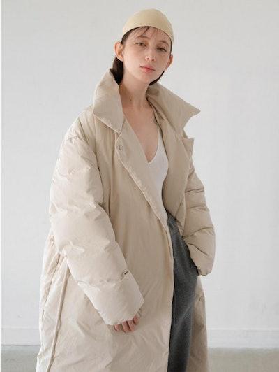 AMOMENTO Duck Down Puffer Coat