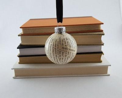 Vintage Book Ornament