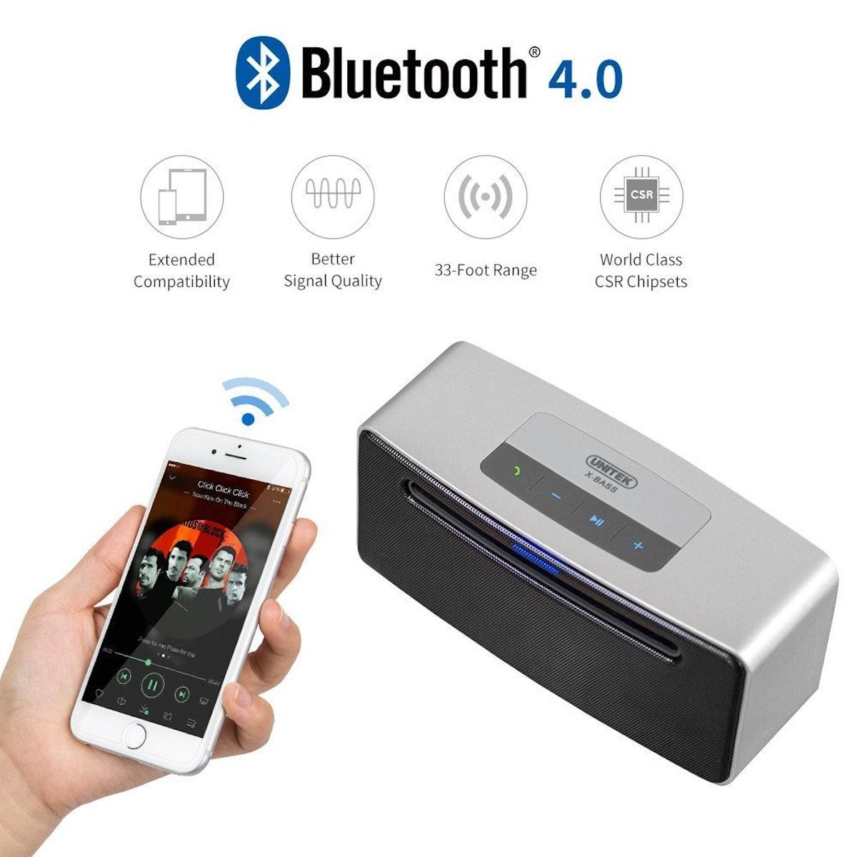 Unitek Portable Bluetooth Speaker