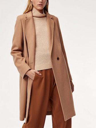 Stedman Wool Coat In Soft Camel