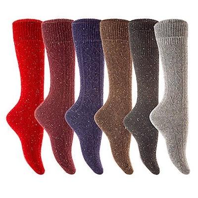 Lovely Annie Women's Knee Length Wool Socks